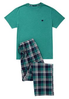 Explore a fantastic range of clothing from F&F at Tesco, with all the latest styles in kids', men's and women's clothes. Mens Sleepwear, Cotton Sleepwear, Loungewear Set, Couple Pajamas, Cute Pajama Sets, Pajama Outfits, Embroidered Bird, Cute Lazy Outfits, Well Dressed Men
