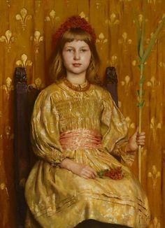 My crown and sceptre, Thomas Cooper Gotch. English Pre-Raphaelite Painter (1854-1931)