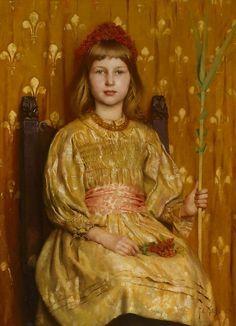 My crown and sceptre, Thomas Cooper Gotch. English Pre-Raphaelite Painter (1854-1931)