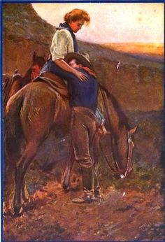 """Maynard Dixon illustration for """"The Homesteaders"""" by Kate and Virgil Boyles"""