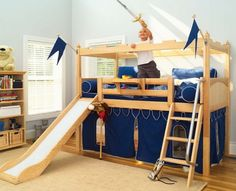 Fort-bunk-bed-with-slide
