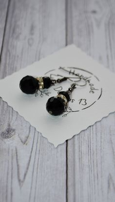 Excited to share the latest addition to my #etsy shop: Black Crystal Earrings - Elegant Dangle Drop Earrings - Earrings Handmade - Gift For Her - Victorian Earrings - Jewelry Gift For Women https://etsy.me/2IC4ibz #jewelry #earrings #black #anniversary #earwire #no #gi