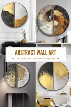 Simple Canvas Paintings, Large Canvas Wall Art, Abstract Canvas Art, Diy Wall Art, Metal Wall Art, Wall Art Decor, Metal Clock, Metal Walls, Wall Art Prints