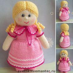 """Купить """"Кукла Ангелина"""" вязаная игрушка - вязаная кукла, кукла, вязаная игрушка, игрушка, девочка ♡"""