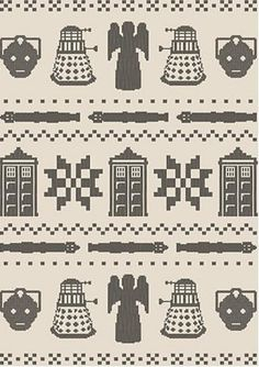 Ravelry: Doctor Who Faux Fair Isle chart by Ruth Klein Cook