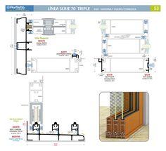 Línea Serie 70 Triple Perfiletto ®| Catálogo Virtual Perfiletto