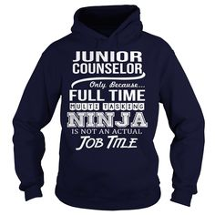 Awesome Tee For Junior Counselor T-Shirts, Hoodies. Get It Now ==> https://www.sunfrog.com/LifeStyle/Awesome-Tee-For-Junior-Counselor-97280028-Navy-Blue-Hoodie.html?id=41382