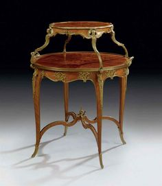 A FRENCH ORMOLU-MOUNTED KINGWOOD, SATINE AND BOIS DE BOUT MARQUETRY TEA-TABLE | BY JOSEPH-EMMANUEL ZWIENER, PARIS, LAST QUARTER 19TH CENTURY | late 19th Century, tea table | Christie's