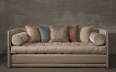 Bon John Saladino {via A Thoughtful Eye I Love How The Pillow Colors Are All  Different But Works.