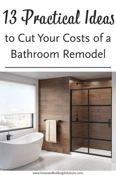 How can you reduce your costs of renovating the bathroom, yet still get an uber-cool finished result? Check out this article here to learn how! Bathroom Remodeling Contractors, Remodeling Costs, Remodeling Ideas, Shower Wall Panels, Shower Doors, Shower Remodel, Bath Remodel, Next Bathroom, Bathroom Ideas