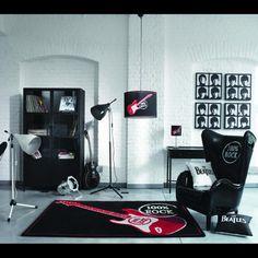 sillon rock + hard rock + black + sala + room
