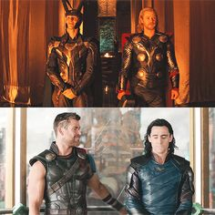 Brothers - Loki and Thor - Marvel Loki Thor, Tom Hiddleston Loki, Loki Laufeyson, Marvel Dc Comics, Marvel Heroes, Marvel Characters, Marvel Movies, Marvel Avengers, Black Panthers