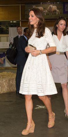 Get all the shopping details on Kate Middleton's amazing Stuart Weitzman cork wedges