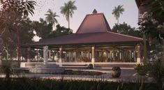 Visual 'The Joglo' Competition Final Submit Indonesian House, Gazebo Pergola, Tropical Architecture, Paradise Garden, Traditional House, Bungalow, Villa, Exterior, Outdoor Structures