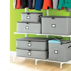Keep your clothes stored, protected and out of sight with our Grey Storage Bags