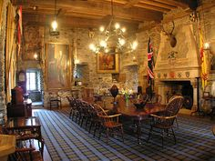 The banqueting hall at Eilean Donan Castle