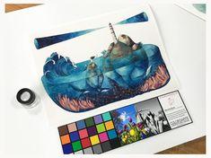 Impresión Fine Art Para Profesionales, Artistas y  Galerías.  www.color3arte.com   Ilustración en la foto:  http://www.gemmacapdevila.cat/