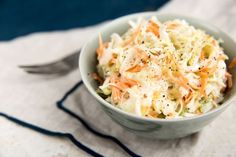 Coleslaw (use homemade mayo for Cabbage Salad Recipes, Slaw Recipes, Vegan Recipes, Macaroni Salad, Macaroni And Cheese, Carolina Coleslaw Recipe, Vegan Coleslaw, Coleslaw Salad, Organic Recipes