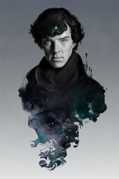 I believe in Sherlock Holmes (vía garabating).    The Excellent Mind by `Artgerm