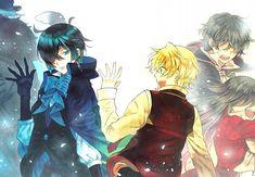 Pandora Hearts: Oz, Alice, and Gilbert  Vanitas no Shuki: Vanitas, Murr, and Noe ALSO: mMM YES