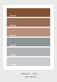 brown and grey color palette, brown and grey color combos, brown and grey color scheme Taupe Color Palettes, Hex Color Palette, Bedroom Colour Palette, Taupe Colour, Bedroom Color Schemes, Grey Bedroom Colors, Taupe Bedroom, Bedroom Brown, Brown Color Schemes
