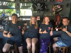 Happy students after they got their PhD in #Freediving with Immersion.  Ice cold beer and expresso is my drink of choice after 60 deep dives.  3-4 classes a month year round in #FortLauderdale #spearfishing