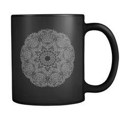 Mandala Black Mug
