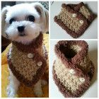 Crocheted Small Breeds Dog Scarf size XS,S/M,L/XL Choose from 7 Colors   QuiltNCrochet on ArtFire Small Dog Breeds, Small Breed, Small Dogs, Diy Dog, Dog Stuff, Teddy Bear, Puppies, Business, Crochet