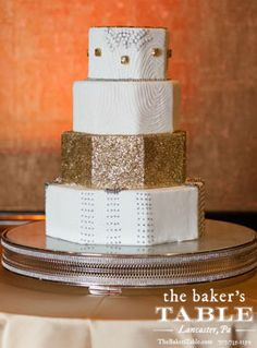 Great Gatsby Wedding Cake by The Baker's Table.   Photography by Jeremy Hess Photographers
