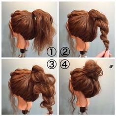 Image result for how to do a messy bun with short hair