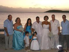 Tere Cortes and Franco Gonzalez were joined in marriage on Saturday, December 8, 2012, on Vieques Island just before sunset.   Photo of their wedding party.
