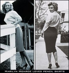 In the 40s, the ladies wore their pencil skirts to work for the most part, ... and sweaters