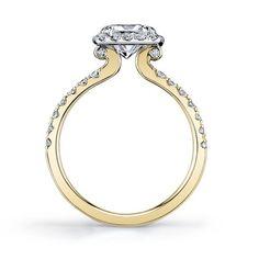 Settings 18kt White & Yellow Gold New Designs Set Diamond Engagement Rings Ezmerelda