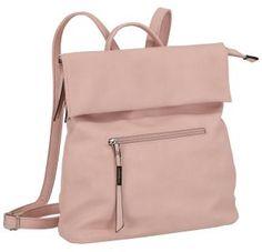 Damenrucksack Lichtblau Galini Powder Überschlag hellrosa - Bags & more Backpacks, Fashion, Light Rose, Artificial Leather, Silver, Blue, Bags, Moda, Fashion Styles