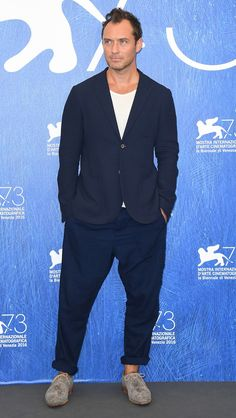 Jude Law wearing Oliver Spencer at the Venice Film Festival