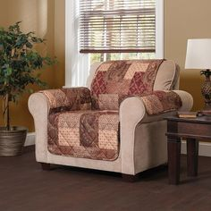 Paisley Patch Chair Slipcover, Multicolor
