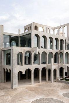 """VERSLUTCE — architectureandfilmblog: """"Whether it's... Architecture Design, India Architecture, Facade Design, Exterior Design, Architecture Diagrams, Building Facade, Brutalist, Chicago Hotels, Anaheim Hotels"""