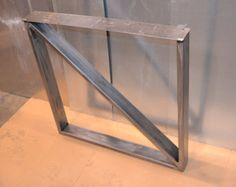 Steel Metal Table Legs, Rectangular Cross Brace Style - Any Size/Color!