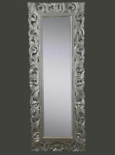 Specchio argento stile #barocco 150x100 cm #Baroque #mirror silver ...