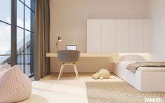 Single Bedroom, Small Room Bedroom, Home Bedroom, Home Office Design, Home Interior Design, House Design, Tamizo Architects, Morden Bedroom, Girl Bedroom Designs