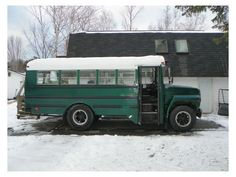 school bus campers | School Bus Turned Tiny House