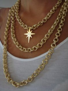 Gold plated necklace from our North star Collection...