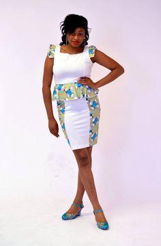 Dresses : White Peplum Dress
