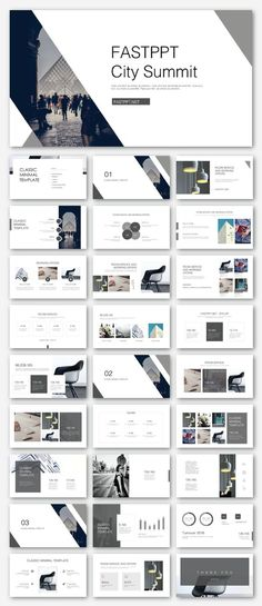 Black & White Business Presentation Template – Original and high quality PowerPoint Templates downlo Portfolio Design Layouts, Page Layout Design, Layout Cv, Template Portfolio, Web Portfolio, Design Presentation, Business Presentation Templates, Corporate Presentation, Power Point Presentation Tips