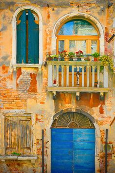 Italy photography - Venetian Fairy Tale - Venice - door architecture gold blue teal - Fine art travel photography - 8x12 -or- 8x10 on Etsy, $30.00