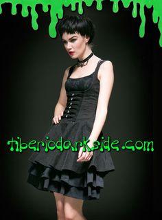 Tiberio Dark Side. - Vestido Gotico Bajo Pecho