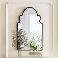 Brayden Arch Mirror - option to cover the weird decorative cut out in fireplace brick?