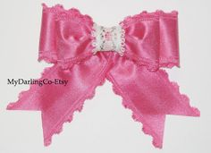 Pink Hair Bow from My Darling Company-Etsy.
