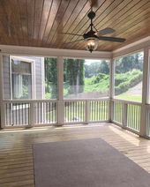 We're getting out of the cooking location today, as well as likewise right into the screened in porch. I'm sharing screened in porch ideas on precisely how to take advantage of a tiny spending plan. Back Porch Designs, Small Sunroom, Porch Kits, Porch Flooring, Building A Porch, House With Porch, Screened In Porch, Front Porch, Deck Design