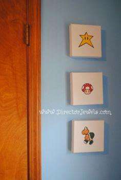 Mario Nursery Inspiration at directorjewels.com Super Mario Bros, Nintendo Theme DIY Decor and Ideas